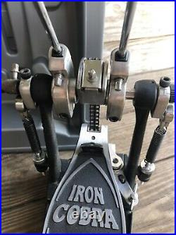 TAMA IRON COBRA Power Glide Double Bass Drum Pedal Set with Case EXC