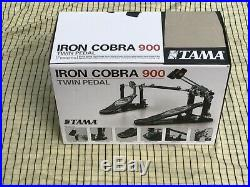 Tama HP900RN Iron Cobra Roller Glide Double Bass Drum Pedal With Case & Box superb