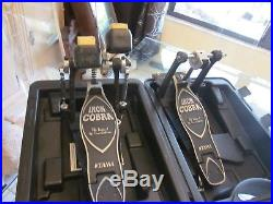 Tama Iron Cobra HP900P Power Glide Double Bass Drum Pedal Dual Kick Pedal withcase