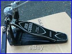 Tama Iron Cobra Power Glide Double Kick Bass Drum Pedal w Hard Case Key