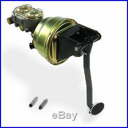 Universal FW 8 Dual Brake Pedal kit Drum/DrumSm Oval Chr Pad rod cylinder