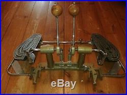 Very Rare Vintage Australian Sleishman Double Bass Drum Pedal