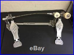 Vintage Zalmer Twin Double Bass Pedal Orignial double kick drum pedal